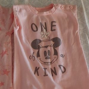 Two Disney Baby romper one piece